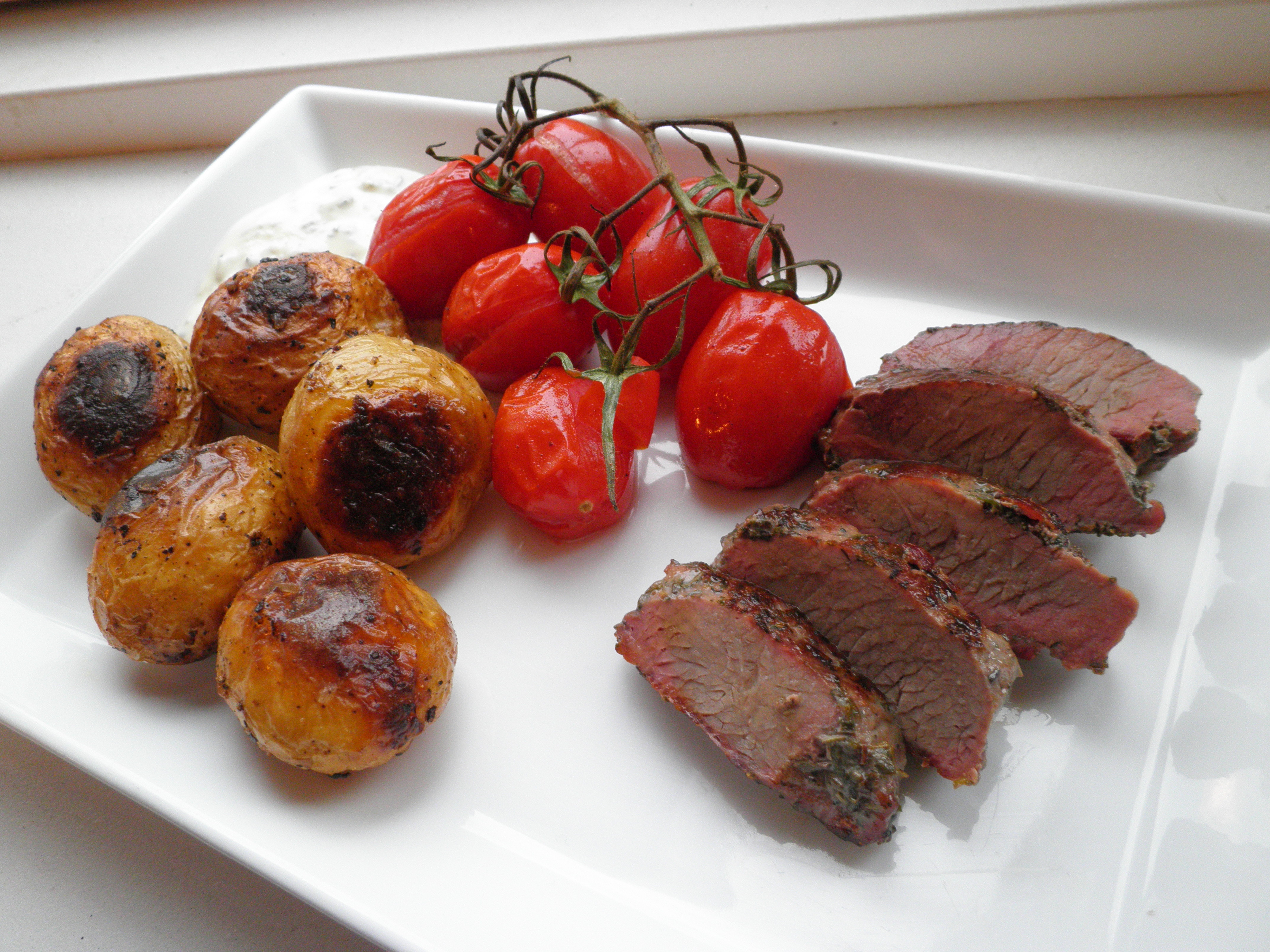 brunede kartofler i ovn